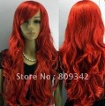 NEW Long Red Wavy Curly Highlighted Ladies wig