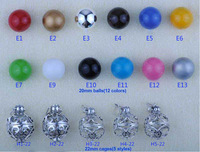 Wholesale 10 pcs 925 sterling silver  harmony balls mexican bolas mix random styles or choose the colors and cage by yourself