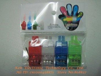 5000pcs LED Finger Lights Laser Beam Finger Ring Lamp Party Supplies 4pcs/bag Quality guarantee LED lighted toys Via DHL