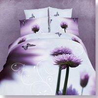 Hot Beautiful 4PC 100% COTTON COMFORTER DUVET DOONA COVER SET QUEEN / KING SIZE bedding set 4pcs
