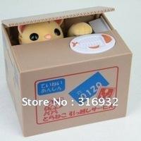 N4 Super cute steal money cat saving cans,cat piggy bank