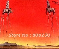 Free Shipping ,Museum Quality Art Wall  Oil Paintings Reproductions On Canvas,The Elephants