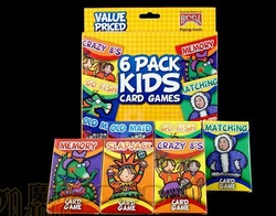 Bicycle 6 Pack KIDS Card Games ---- six cards boxed games for children----Magic toy,magic tricks,magic prop magic(China (Mainland))