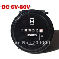 Free Shipping 9-80V Hour Tacho Meter Boat&Motorbike Instruments Gauge Round LCD Display