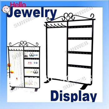 Jewelry Earring display,Necklace showcase Jewelry Display Rack stand holder 32 Holes Black 963