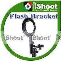 iShoot  Metal Plus Flash Bracket / holder / mount for EZ-fold Speedlight Softbox Diffuser-Nikon Canon Pentax Metz Olympus
