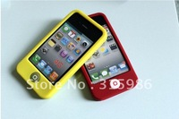 2011 Silicone case for iphone4 soft cover cheap case China Post free shipping common PE bag package