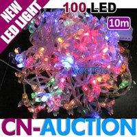 FREE SHIPPING!!! 10m 100 LED Cherry String Light Colourful Christmas Lights Decoration Lamp LED Lighting (CN-LSL36)