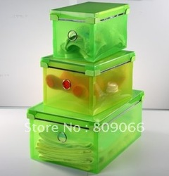 Imviromentaly friendly PP collection bin ,PP transparent box,transparent clear plastic folding storage ,packaging box(China (Mainland))