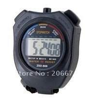 808 LCD Display Plastic Stop Watch with Timer (Black),Timer,free shipping(China (Mainland))