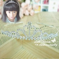 Free Shipping Wedding Bridal Bridesmaid Pageant Prom Princess Rhinestone tiara Combs crown Kids hair accessories ZHG79543