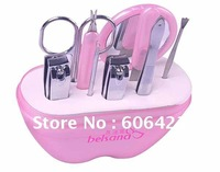 Wholesale Retail 9 in 1 nail care set utility stainless steel manicure set nail clipper manicure tools set kit Free Shipping