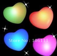 Free Shipping/ Romantic Love  heart  led  light color changing Valentine's  Day  party  wedding decoration 7 colors with battery
