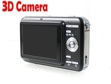 Christmas gift! 12mp digital camera 3d with dual lens and TV-out, HDMI, 2d/3d switchable. Free shipping(China (Mainland))