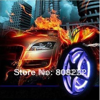 B Hot selling 4pcs/lot free shipping wholesale led flashing car light cool wheel light colorful tire light