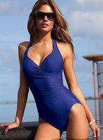 Sexy women one-piece Monokini Swimsuit Halter Pad Size;6-12,