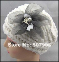 New winter crochet thick beauty knitted flower headdress,head warmer 100pcs/lot