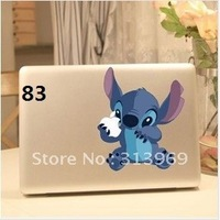 Stitch Vinyl Decal Protective Laptop Sticker For Apple MacBook Air/Pro Humor skin Art protector400 shapes mix order