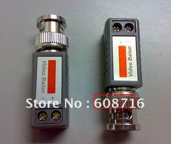 Gualanteed 100%  2pcs Video Balun CCTV Camera Transceiver Adapter BNC Cat5