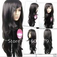 free  shipping  New Sexy long hair black wave lady wig/wigs