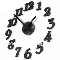 Creative DIY stereoscopic wall clock Free Combination interesting clock