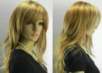 long Blonde mixed Women wig /wigs+cap+Gift