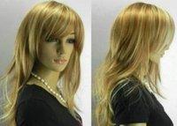 long Blonde mixed Women wig /wigs+cap+Gift