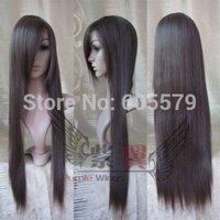 2014 New Sexy long hair dark brown straight lady wig