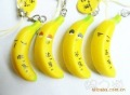 Free Shipping  banana squishy charm/ mobile phone strap/cell phone charm /imitation food animal    / Pendant /Lanyard keychain