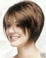 Stunning short brown hair healthy wig/wigs