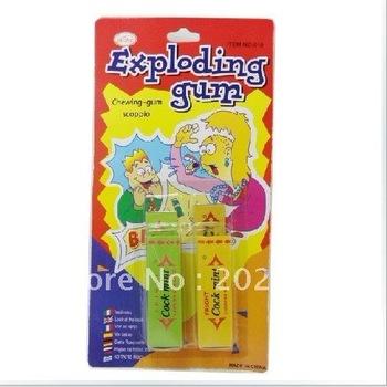 Wholesale Novelty joking toys exploding gum Shock toys joking gum 200pcs/lot fast delivery free shipping