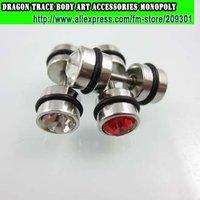 72pcs Dumb Bell 316L Statinless Steel Earring Fashion Ear Stud Fake Ear Expander Men's Ear Ring Fashion Body Jewelrry