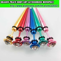 144pcs Ear Piercing Ear Nail Ear Stud Ear Expander 316L Surgical Steel Body Jewellery Colour Plated Multi Style