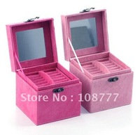 Open Xin Bao European rabbit three tier jewelry  / Trinket / storage box - pink Free shipping!!! / hot sales /Wholesale