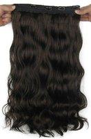"""Natural wavy Clip hair,mixed Remy india virgin human hair extensions,22"""" 1pcs/5clips/ 100g"""