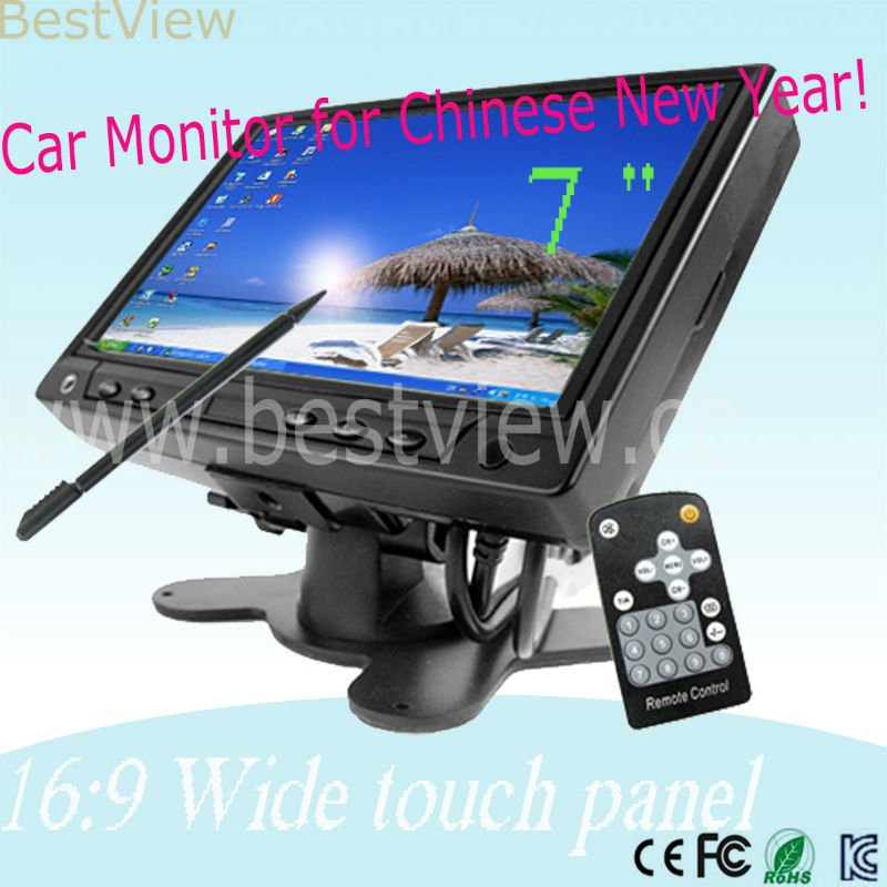 7 inch pc monitor with wide touch panel(China (Mainland))