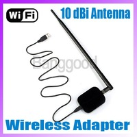 Wireless LAN Card USB WiFi Adapter with 10dBi Antenna 150Mbps 1000mW high power.IEEE 802.11b/g Free shipping