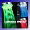 LED Temperature Control Romantic 3 Colors Light Bathroom Shower Head