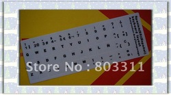 Free shipping +Good quality SP languange(Spanish) Laptop keyboard sticker, keyboard cover(China (Mainland))