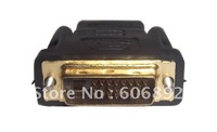 20pcs Gold Plated DVI Male To HDMI Female Adapter/adaptor Converter/convertor Free Shipping via EMS or DHL