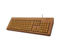 104 Keys Wired bamboo Keyboard