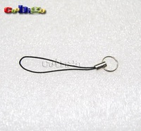 Mobile Cell Phone Strap Lariat Black With Split Ring Free Shipping 300pcs Pack#FLQ034-B