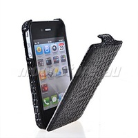 CROCODILE SKIN FLIP HARD BACK CASE COVER FOR APPLE IPHONE 4 4G 4S FREE SHIPPING