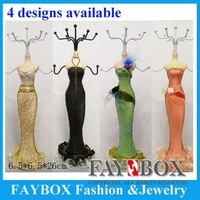 Nice doll design  jewelry display ,necklace&earring&bracelet display rack mix styles shipping
