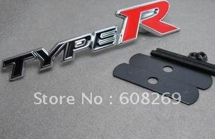 Wholesale TYPE R logo / metal modified car standard /civic accird typey letter badge caremblem