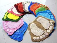 Free Shipping  Double feet mat, Ottomans, Carpets, cushions, Multicolor random, 40*60CM, 290g