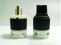 H end HUBBELL HBL8215C Power plug & IEC Connecter new set pair