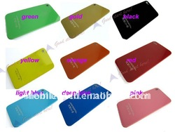 Hot Glass Back Housing Cover+ Bezel Frame+Flash Assembly for Iphone 4G Free Shipping(China (Mainland))