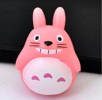 Free shipping  Hot Sale!!!Wholesale Fashion Plastic Cute PVC Sucker Pink Totoro Doll Mobile Phone Sticker