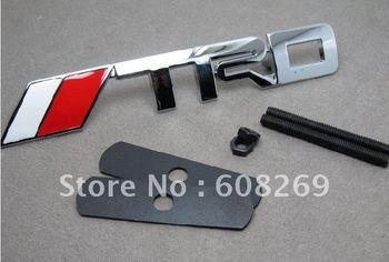 freeshipping!10pcs/lot TRD letter Badge CAR EMBLEM3D Chrome Badges :90*13mm with glue sticker best priceToyota / Corolla RAV4